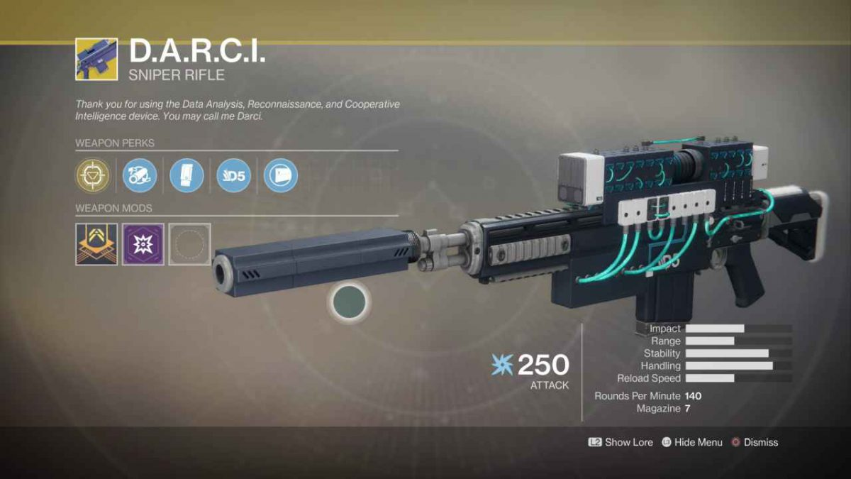 D.A.R.C.I Weapon Overview – Destiny 2 Sniper Rifle