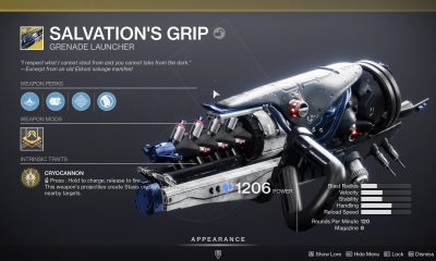 Salvation's Grip- How to Obtain the Stasis Grenade Launcher in Destiny 2 Beyond Light