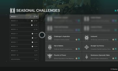 What Are Seasonal Challenges In Destiny 2