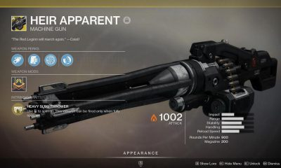 Destiny 2 Heir Apparent Catalyst Guide
